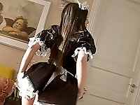 Voluptuous housemaid teen gets her elastic butthole boned as a reward  for outstanding room service